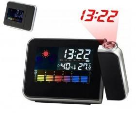 ساعت پروژکتوری با نمایش وضعیت آب و هوا ، تقویم ، دماسنج و رطوبت سنج مدل 8190