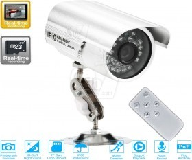 K818 Bullet Night Vision Surveillance Camera With internal DVR Recorder, Memory Card Slot and Remote Control