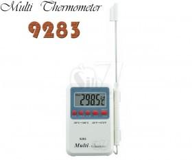 دماسنج میله ای پرابی دیجیتالی مدل 9283، با قابلیت تعیین محدوده دما و آلارم هشدار