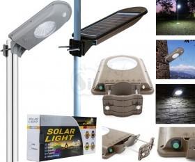 چراغ خورشیدی بزرگ دارای سنسور حرکتی جهت افزایش اتوماتیک نور هنگام عملکرد حسگر با قابلیت اتصال به میله یا دیوار