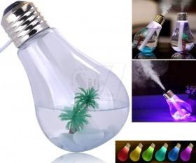 مینی بخور سرد یو اس بی به شکل لامپ حبابی بزرگ با چراغ رنگارنگ