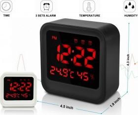ساعت دیجیتالی طرح کاسیو مدل032 دارای 3 آلارم زمانی مختلف، نمایش رطوبت و دمای محیط