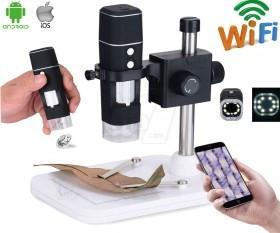 میکروسکوپ دیجیتال بیسیم شارژی پرتابل پایه دار