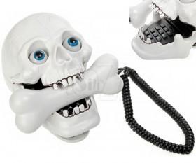 تلفن رومیزی فانتزی هالووین به شکل جمجمه با گوشی به شکل استخوان