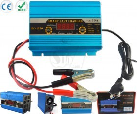 Digital Display Smart Fast Battery Charger with LCD Display
