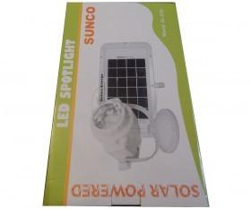 چراغ و پروژکتور خورشیدی شارژی سانکو با سولار پنل جدا مدل 200