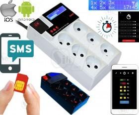 پریز هوشمند سیم کارتی، کنترل و مدیریت توسط اپلیکیشن بدون نیاز به اینترنت، قابلیت تنظیم تایمر، محدوده دما، محدوده ولتاژ