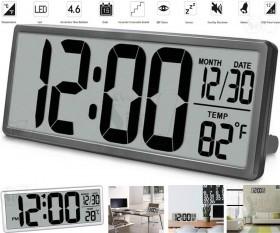 ساعت دیجیتالی 35 سانتیمتری باطریخور، دارای آلارم، دماسنج