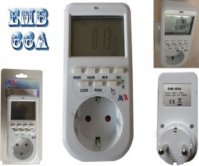 EMB-66A Electric Weekly Programmable Digital timer switch