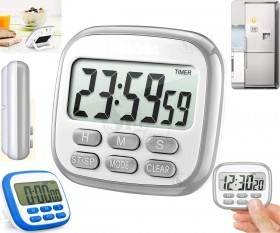 Digital Countdown, Counts up Chronometer with Clock and Magnet