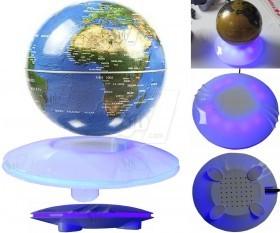 New UFO Shape Around Base Floating Anti gravity Magnetic Levitation Globe with LED