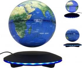 New Disc Shape LED Around Base Magnetic Levitation Floating Antigravity Globe