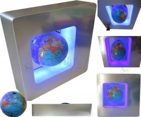 کره زمین معلق مغناطیسی با پایه به شکل مربع