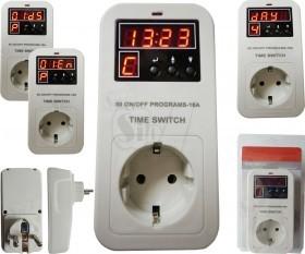 تایمر برق پریزی دیجیتال روزانه یا هفتگی یا ماهانه