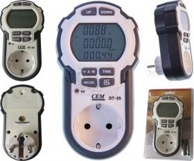 وات متر و نمایش میزان مصرف برق دیجیتالی CEM مدل DT-25
