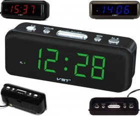 ساعت رومیزی دیجیتالی برقی VST مدل VST-738 دارای آلارم
