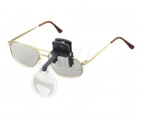 ذره بین کلیپسی با زوم 7 برابر قابل اتصال روی عینک