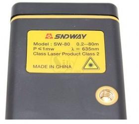 "SNDWAY SW-80 1.8"" LCD Digital Laser Distance Meter 3*AAA"