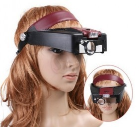LED Headband Magnifier 81007-A Helmet Magnifier Watching Loupe Lupe Glass