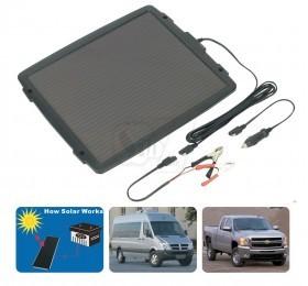 شارژر خورشیدی باطری ماشین 12 ولتی 4.8 واتی مارک توپرای با خروجی فندکی یا انبرک با توان 300میلی آمپر