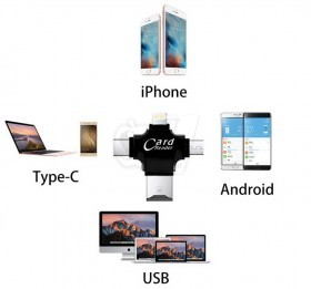 مولتی رم ریدر جهت تبادل اطلاعات مولتی مدیا بین رم میکرو و چهار نوع دستگاه مختلف