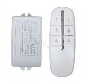 دستگاه قطع و وصل برق کنترلدار 4 کانال 1 گیرنده طرح جدید