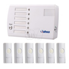 QUHWA QH-834A Six-Way wireless digital caller up to 200 meters transmitting distance