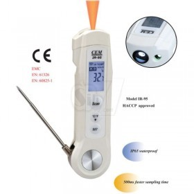 CEM IR-95 Food Safety Infrared Thermometer with Probe