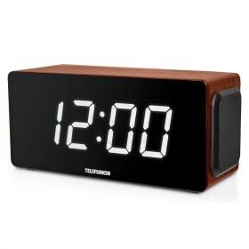 ساعت دیجیتالی تلفونکن رادیودار و ریموت دار با قابلیت پخش موسیقی از فلش مموری مدل 1566یو