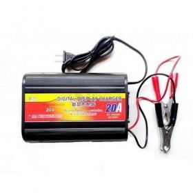 شارژر باطری ماشین 20 آمپری با 2 نوع ولتاژ خروجی 12 و 24 ولت و دارای دکمه شارژ سریع