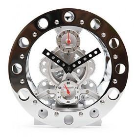 ساعت چرخ دنده ای آلارم دار کرومی مدل 03