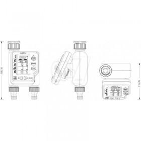 تایمر آبیاری دیجیتال دو خروجی آمیکوپلاس2
