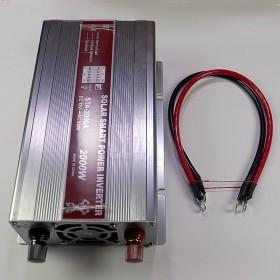 پاور اینورتر شبه سینوسی 2000 وات- کیفیت عالی- GHK مدل STA-2000A عکس دستگاه و کابل