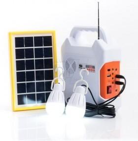 پک روشنایی خورشیدی کامیسیف مدل 915 دارای پاوربانک، رادیو و اسپیکر بلوتوثی فلش خور