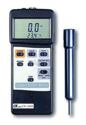 Conductivity Meter - P Circuit 200 uS/2 mS/20 mS, RS-232 LUTRON CD-4303